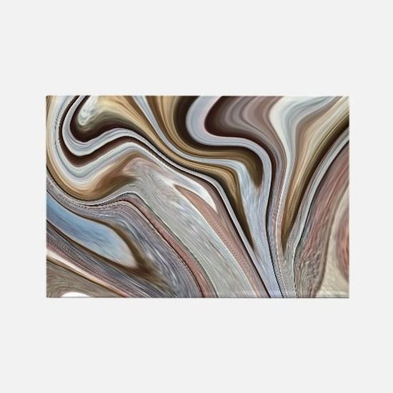 modern swirls Magnets