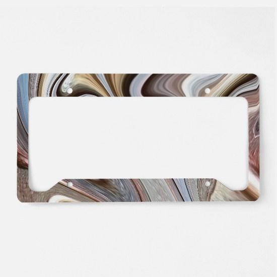 brown marble swirls License Plate Holder