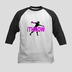 Pink Discus Baseball Jersey