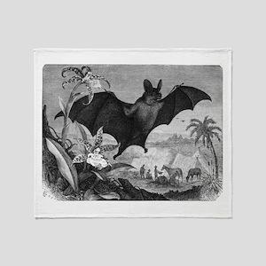 Vampire Bat Throw Blanket