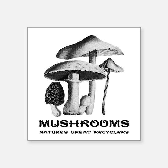 Mushrooms Recycle Sticker