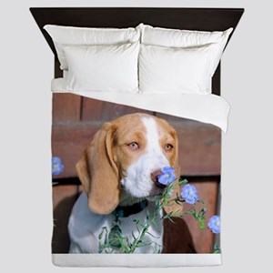 Stop to smell the flowers Queen Duvet