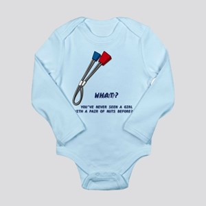 Girl With A Pair Long Sleeve Infant Body Suit