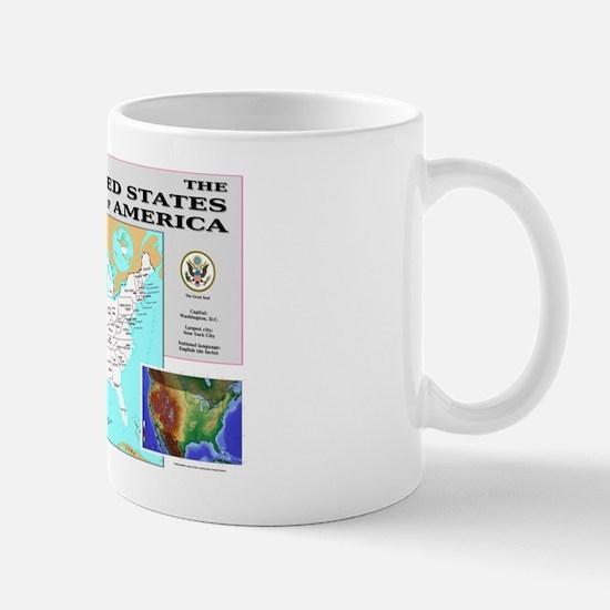 USA Map Mug