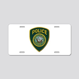 Navy Police Aluminum License Plate