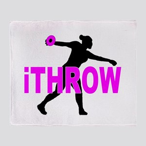 Pink Discus Throw Blanket