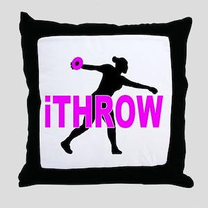 Pink Discus Throw Pillow