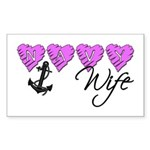 Navy Wife ver2 Rectangle Sticker