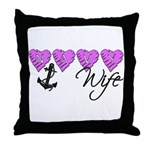 Navy Wife ver2  Throw Pillow