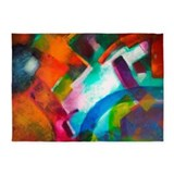 Abstract art 5x7 Rugs