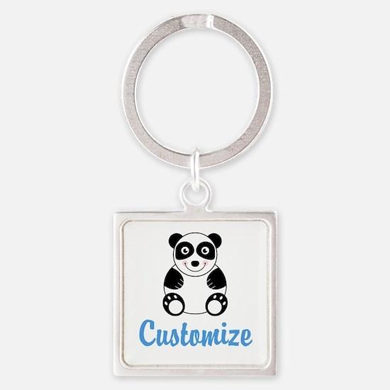 Custom Panda Square Keychain