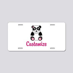 Custom Pink Panda Aluminum License Plate