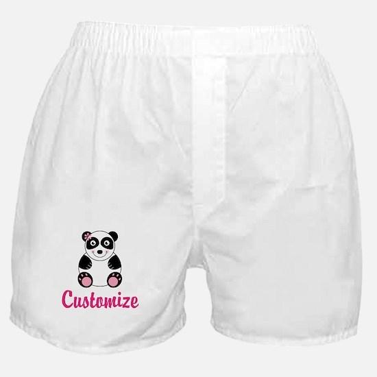 Custom Pink Panda Boxer Shorts