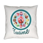 Eileen's Teatime Cupcakes Everyday Pillow