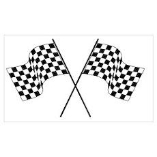 racing car flags Poster