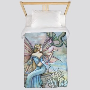 Land Beyond Fairy and Flying Dragon Fan Twin Duvet