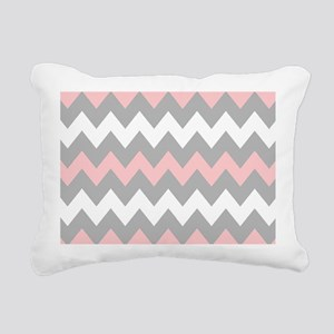 Pink And Gray Chevron St Rectangular Canvas Pillow
