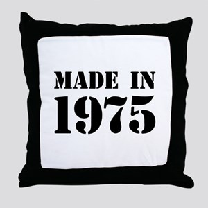 Made in 1975 Throw Pillow