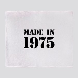Made in 1975 Throw Blanket