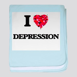 I love Depression baby blanket