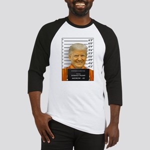 Trump Mugshot Photo Moron 45 Baseball Jersey