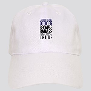 Correctional Officer Badass Job Title Cap