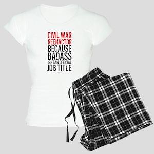 Civil War Reenactor Badass Women's Light Pajamas