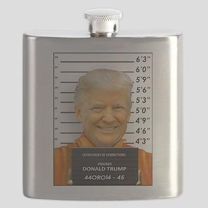 Trump Mugshot Photo Moron 45 Flask