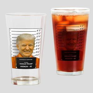 Trump Mugshot Photo Moron 45 Drinking Glass
