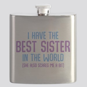 I Have The Best Sister In The World Flask