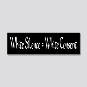 White Silence equals White Conse Car Magnet 10 x 3
