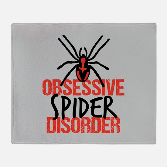 Spider Obsessed Throw Blanket