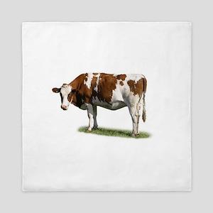 Cow Photo Queen Duvet