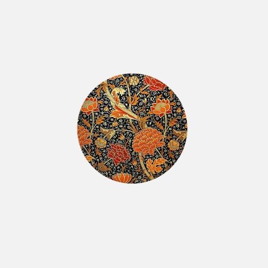 Vintage floral design, Cray Mini Button