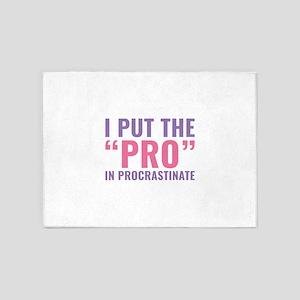 Pro In Procrastinate 5'x7'Area Rug