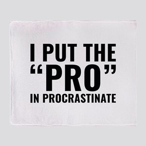 Pro In Procrastinate Stadium Blanket