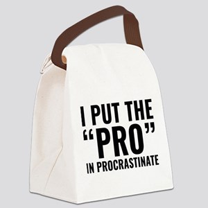 Pro In Procrastinate Canvas Lunch Bag