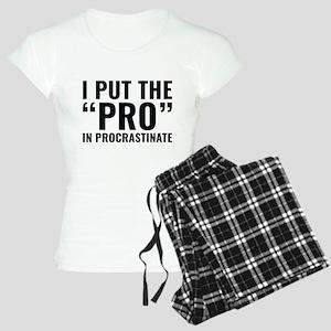 Pro In Procrastinate Women's Light Pajamas