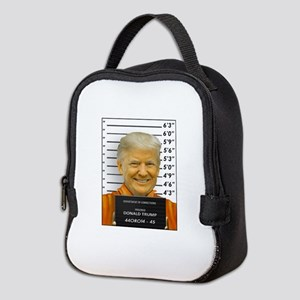 Trump Mugshot Photo Moron 45 Neoprene Lunch Bag