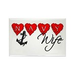 Navy Wife ver3 Rectangle Magnet