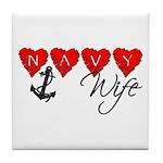 Navy Wife ver3 Tile Coaster