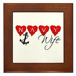 Navy Wife ver3 Framed Tile