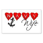 Navy Wife ver3 Rectangle Sticker