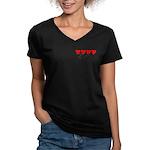 Navy Wife ver3 Women's V-Neck Dark T-Shirt