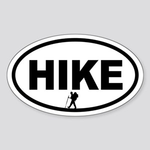Hiker Oval Sticker