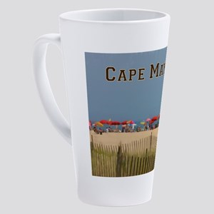 Cape May, NJ Beach Scene 17 oz Latte Mug