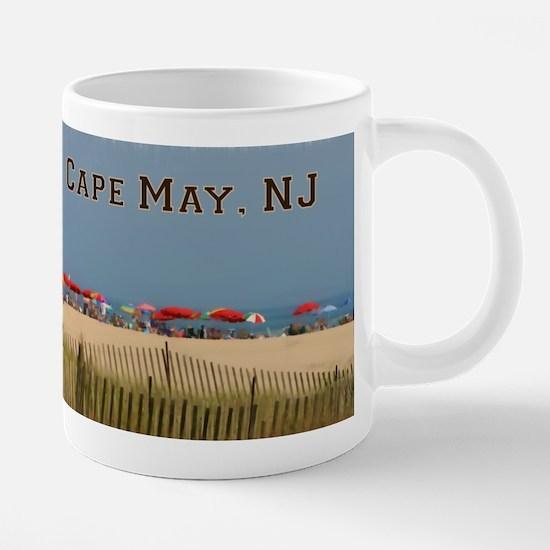 Cape May, NJ Beach Scene Mugs