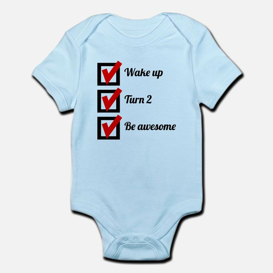 Awesome 2nd Birthday Checklist Body Suit