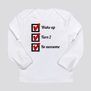 Awesome 2nd Birthday Checklist Long Sleeve T-Shirt