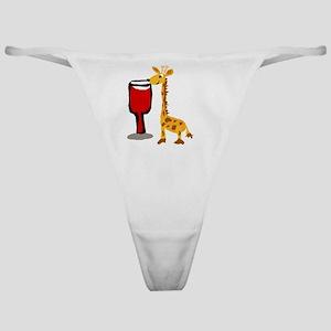 Giraffe Drinking Wine Classic Thong